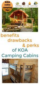 KOA camping cabin tips