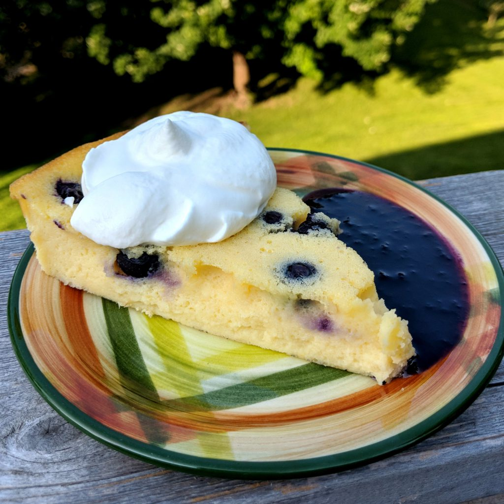 Lemon Blueberry Clafoutis | Camp and Cabin Cookbook