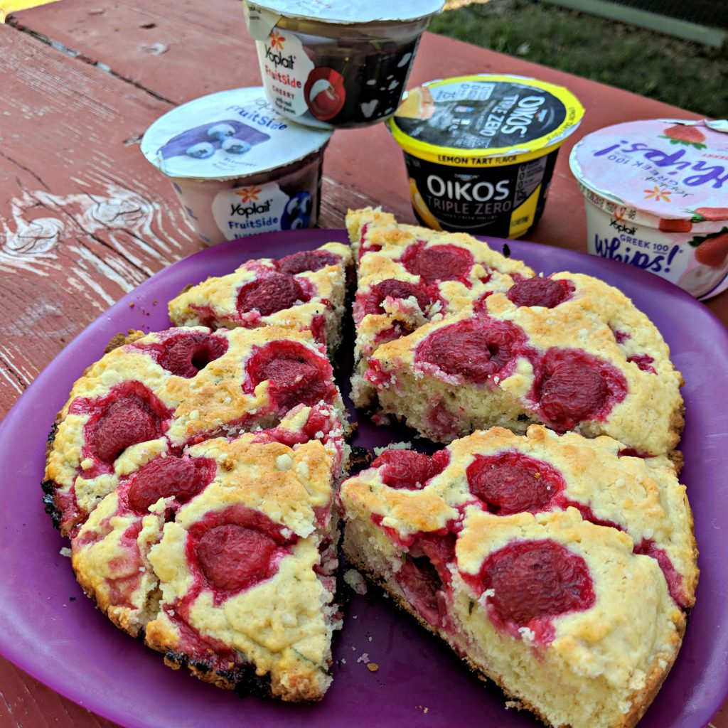 Campfire Raspberry and Rosemary Scones | Camp and Cabin Cookbook