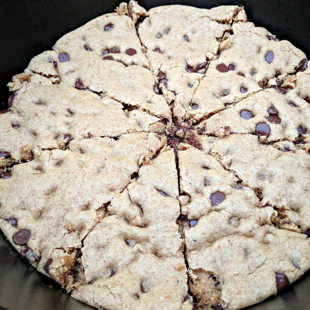 Whole Wheat Chocolate Chip Skillet Cookie | Camp and Cabin Cookbook