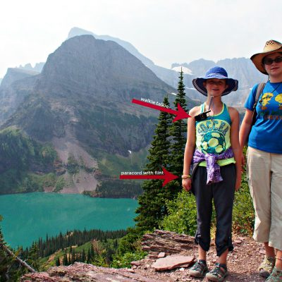 Camping Gear Recommendations. Grinnell Lake at Glacier National Park.