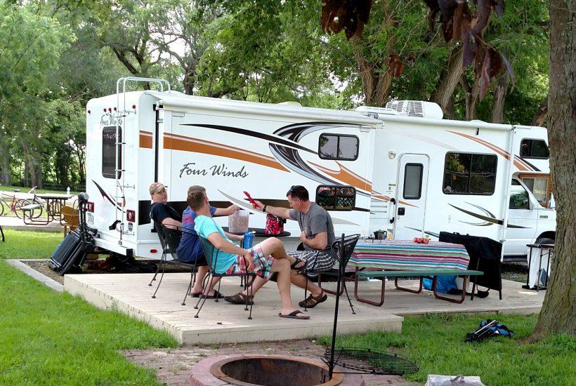 family RV camping