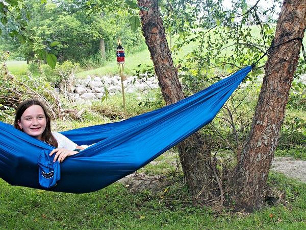 Parachute Hammock- camping gear that does double duty
