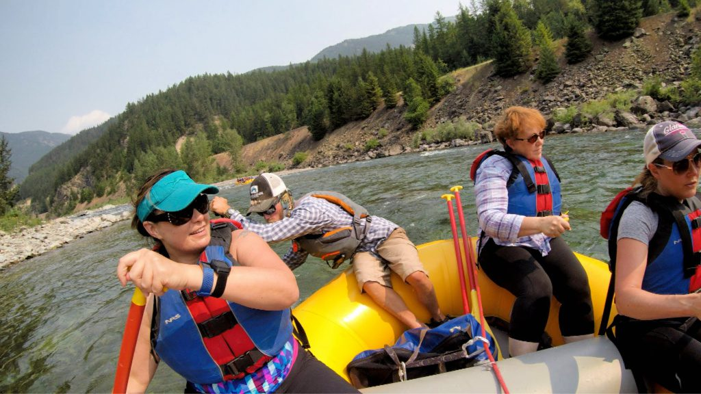 white water rafting in Montana