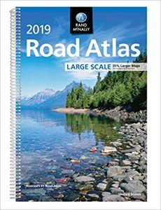 Large road atlas for RV and camping