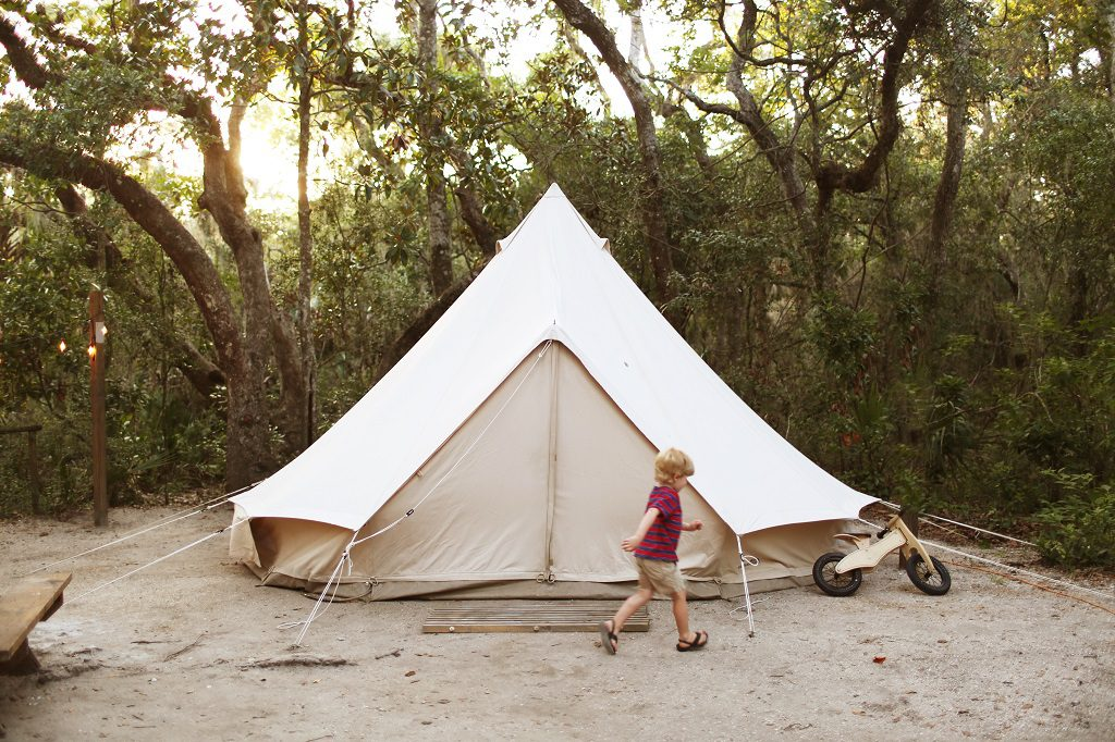 Luxury glamping in Florida State Parks. Photo credit: Fancy Camps