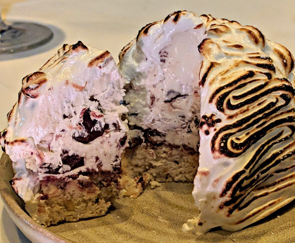 Baked Alaska at Arnett's Chop Shop in Brookhaven, DeKalb County, Georgia. Photo by Jody Halsted, Halsted Enterprises, Inc.