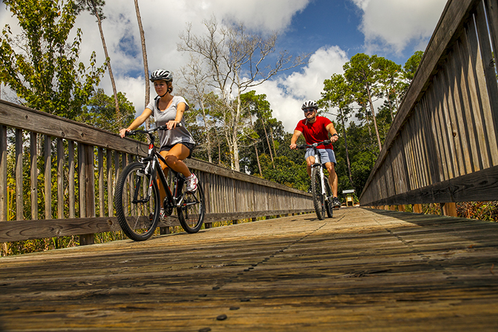 Biking in Gulf Shores, Louisiana. Photo provided by Gulf Shores & Orange Beach Tourism
