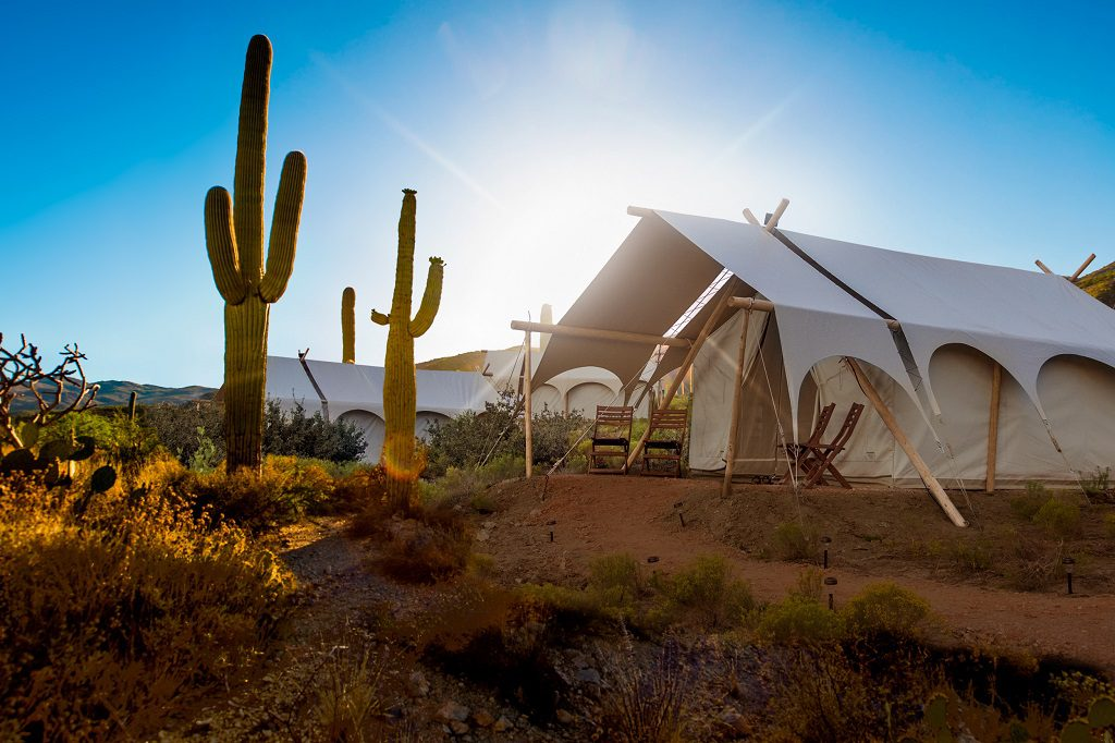 Safari tents at Under Canvas, Tanque Verde Ranch. Photo credit: Under Canvas