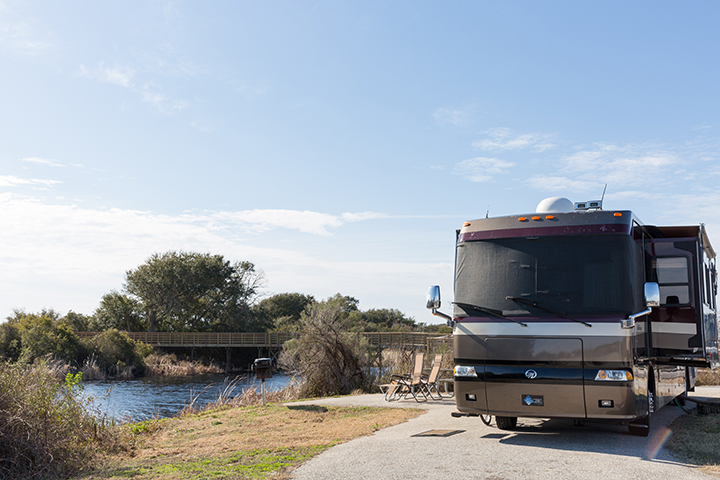 RV Park at Gulf State Park. Photo provided by Gulf Shores & Orange Beach Tourism