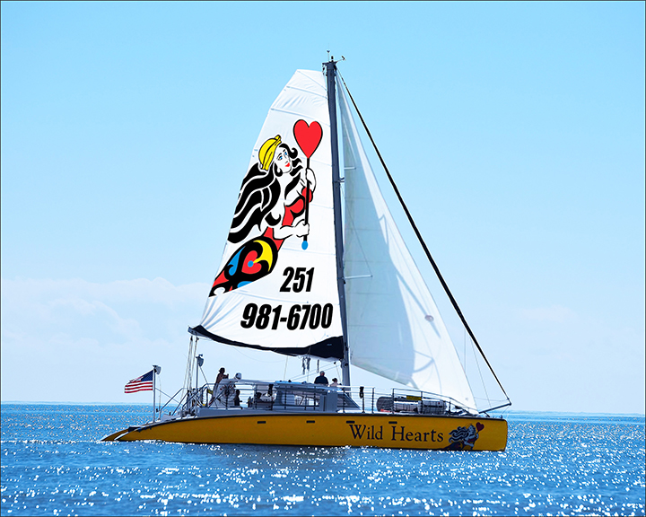 Wild Hearts Catamaran, Gulf Shores, Alabama. Photo provided by Gulf Shores & Orange Beach Tourism