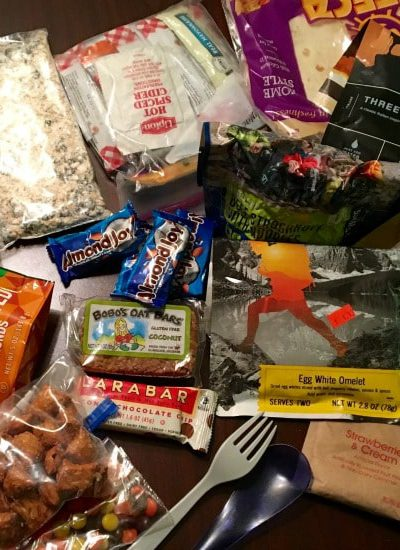 Backpacking food - eating while backcountry camping