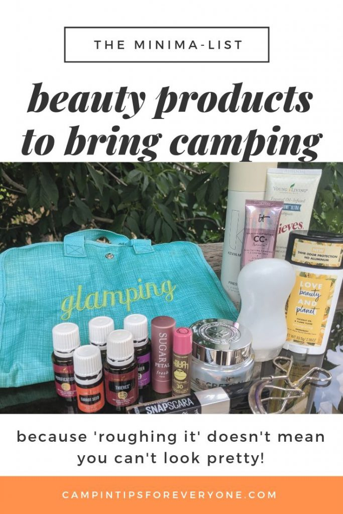 beauty products to bring camping