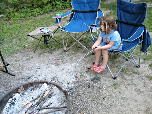 Making smores. Camping tips.