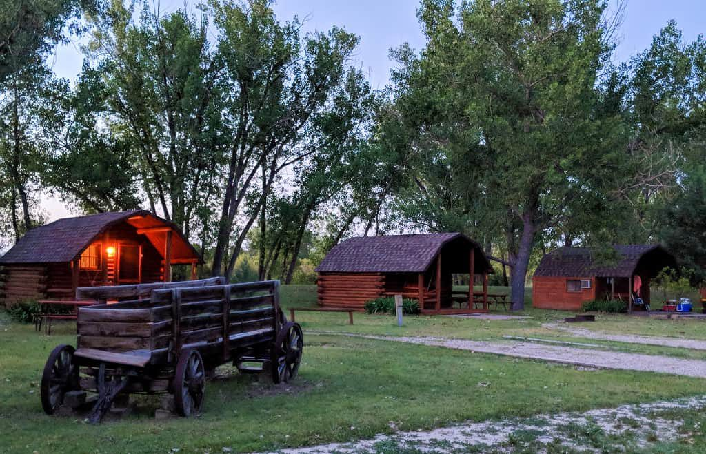 Badlands/ White River KOA camping cabins