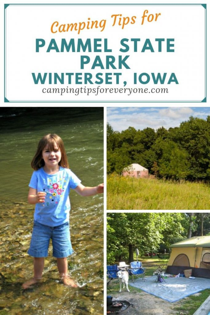 camping tips for Pammel State Park in WInterset, Iowa