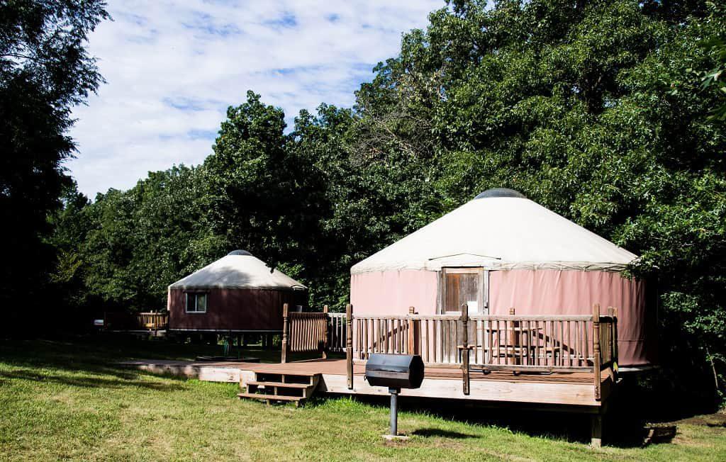 Yurts in Pammel State Park, Winterset, Iowa