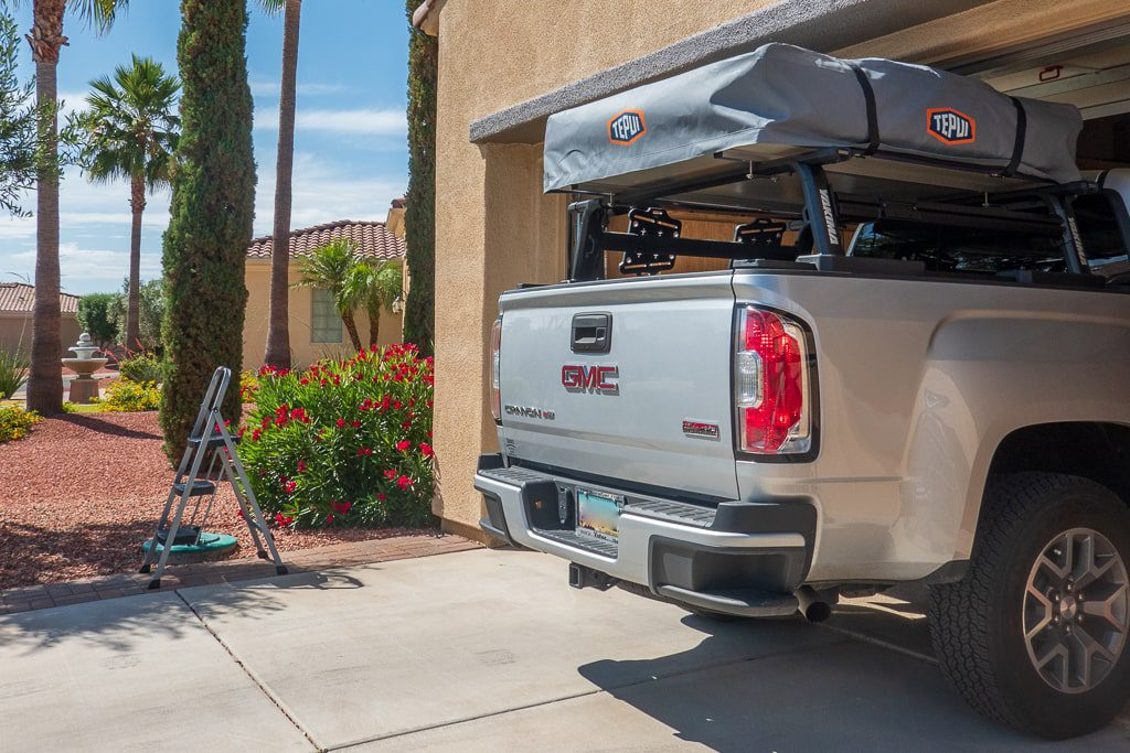 do not install your rooftop tent in the garage!