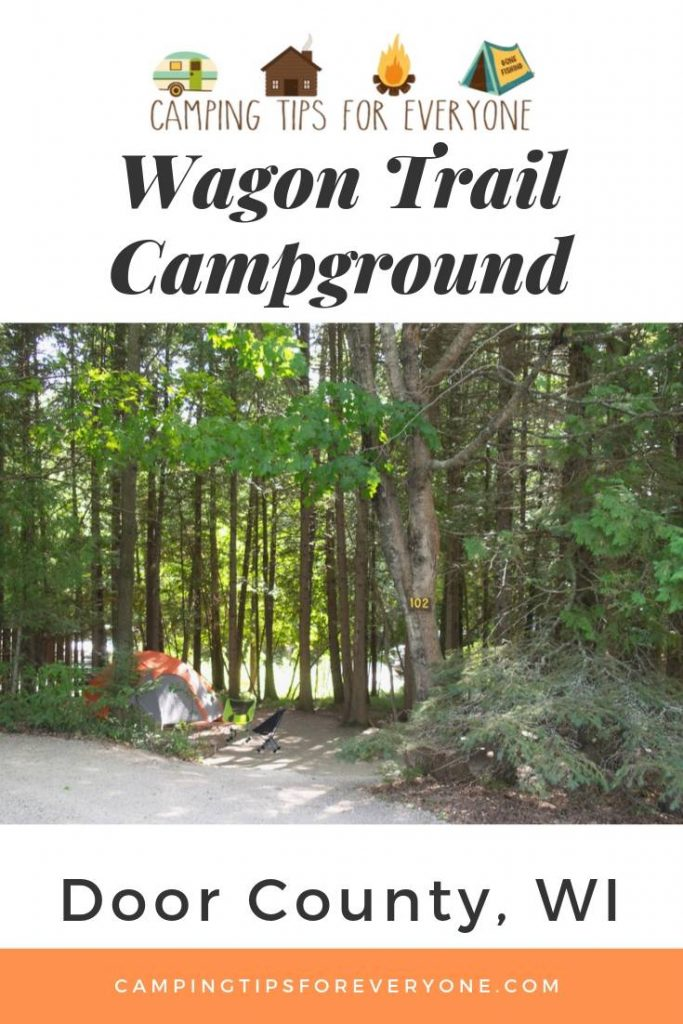 camping at Wagon Trail Campground in Door County, WI