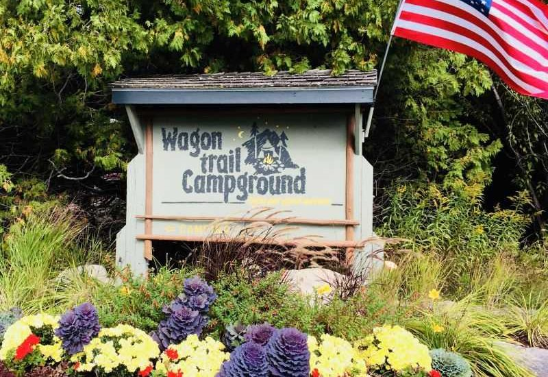 Wagon Trail Campground sign-photo credit Wagon Trail Campground