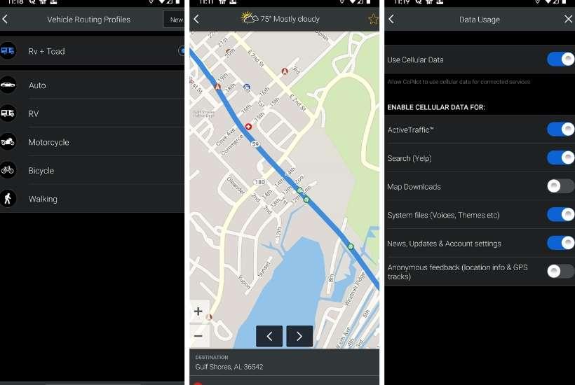 CoPilot RV app