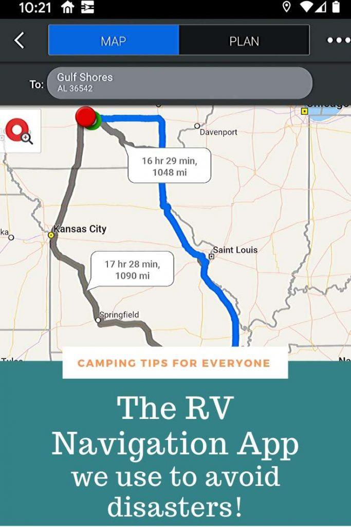 CoPilot RV Navigation app