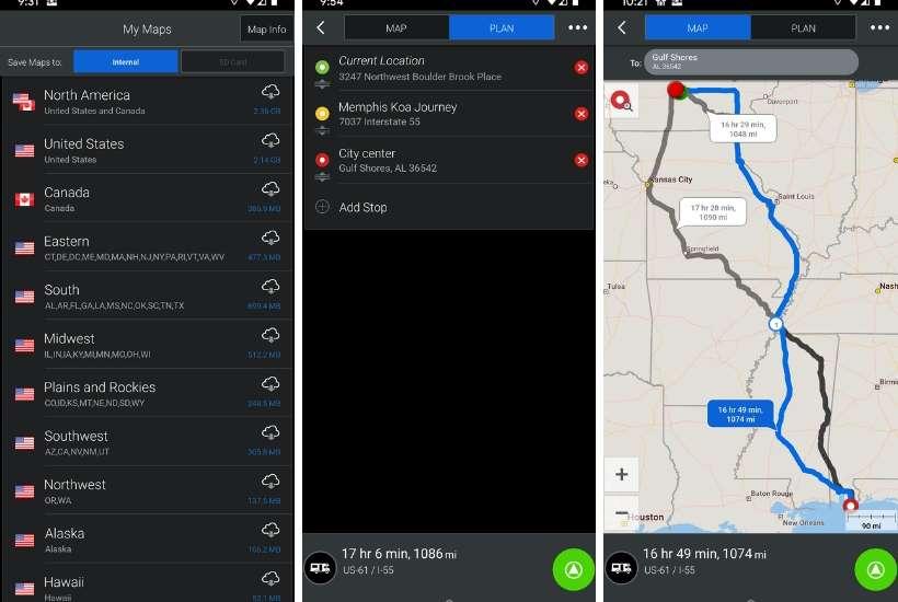CoPilot RV app set up