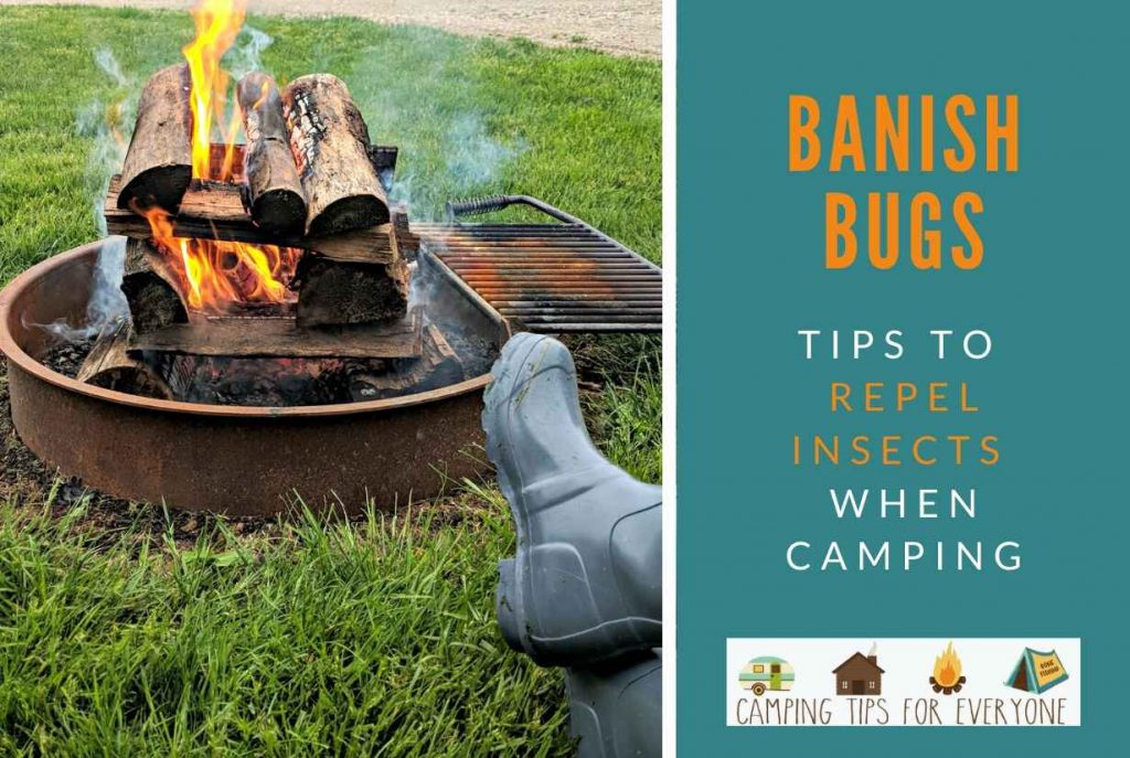 smokey camping fire - banish bugs from your campsite