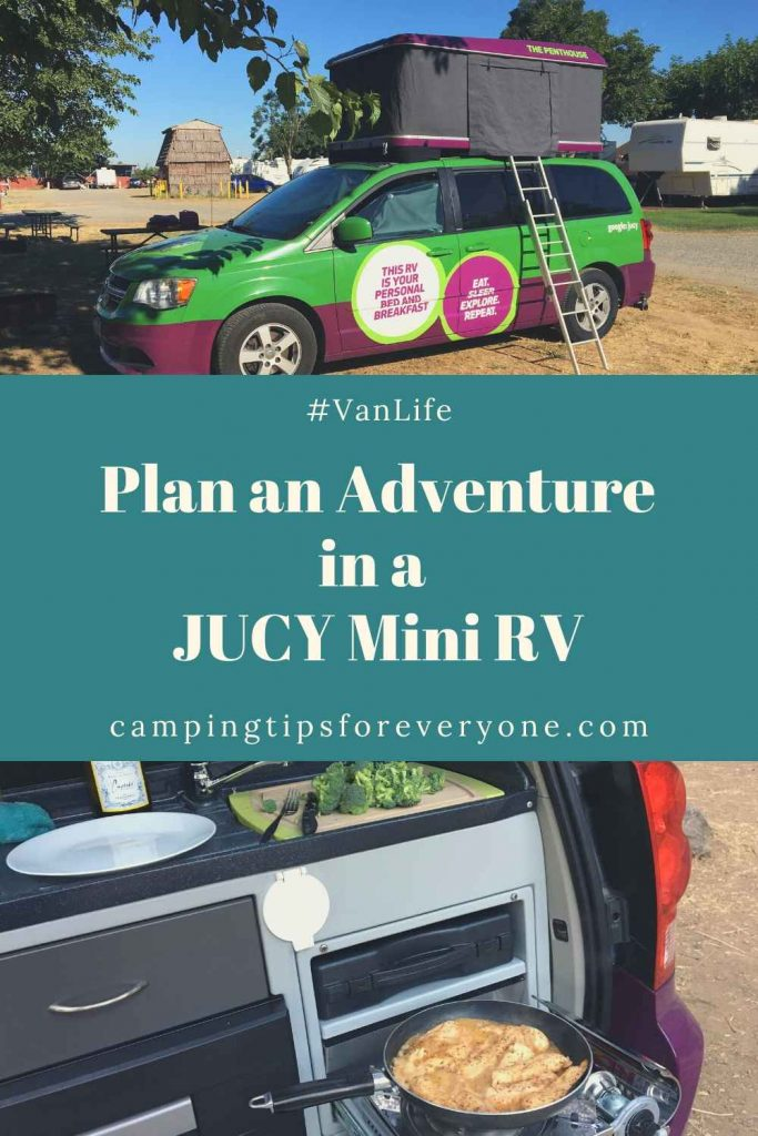 adventure in JUCY mini RV
