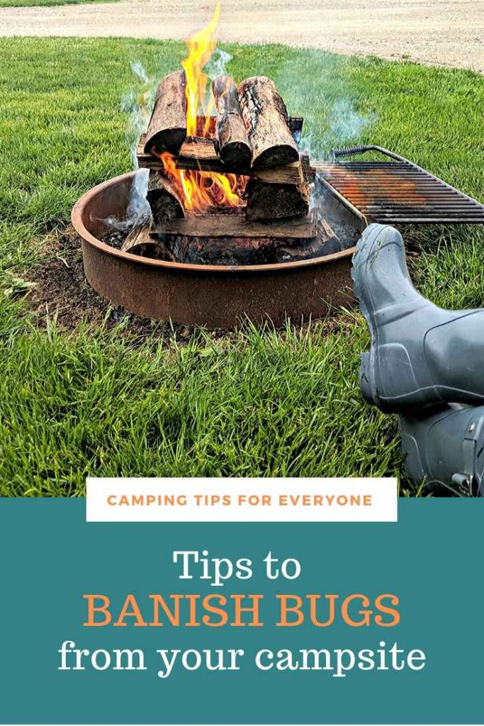 smokey camping fire - camping tips to repel insects