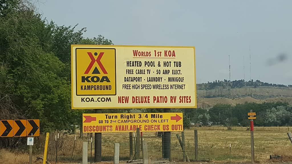 first KOA Billings MT