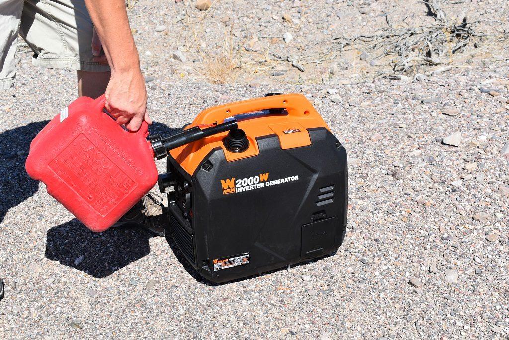 filling camping generator