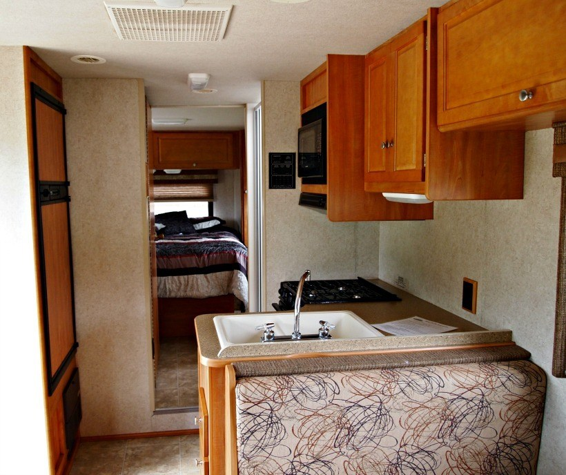 Small space in a Class C RV Rental. First RV trip tips. Camping Tips for Everyone