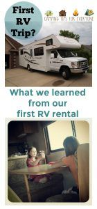 Taking your first RV trip or trying an RV rental for the first time? Tips for RV camping from Camping Tips for Everyone. #RVcamping #campingtips