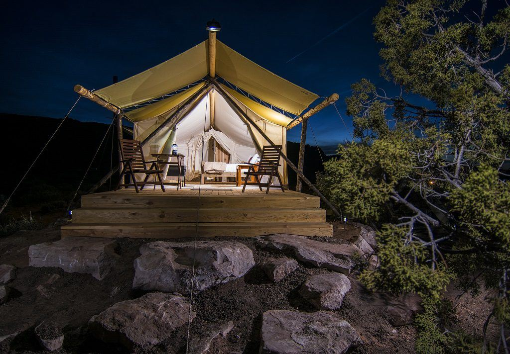 Deluxe glamping in Moab with Under Canvas. Photo credit: Under Canvas