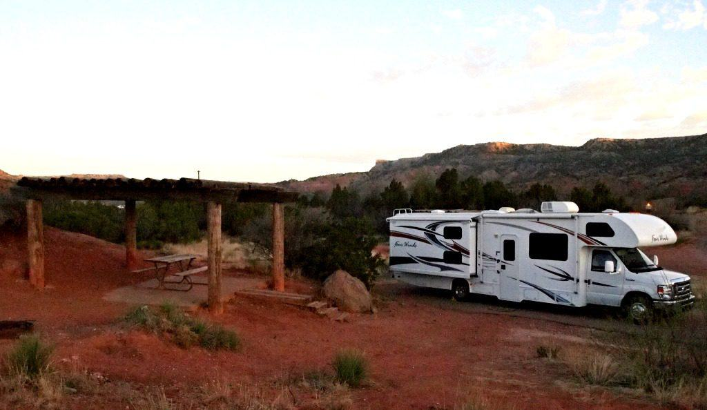RV at Palo Duro State Park Campground. Photo by Jody Halsted, Halsted Enterprises, Inc.