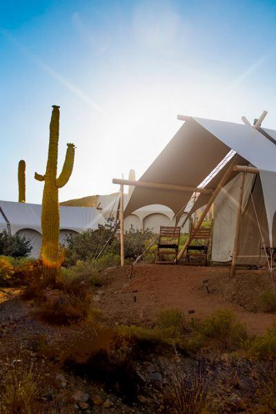 Safari tents at Under Canvas, Tanque Verde Ranch. Photo credit: Under Canvas