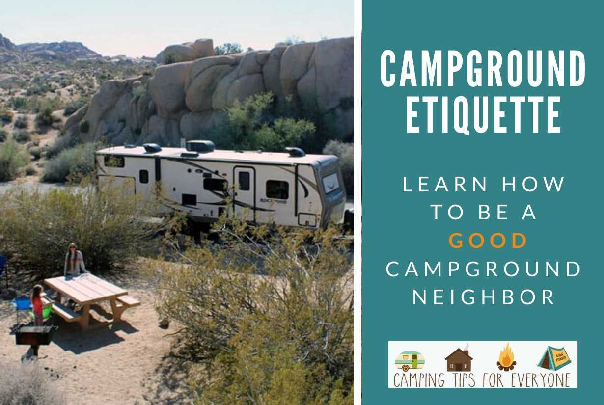 Campground Etiquette 101: Learn How to Be a Good Camper