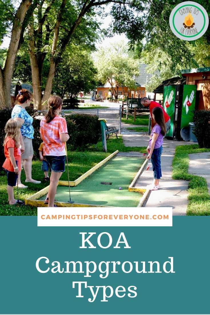 mini golf at KOA campground