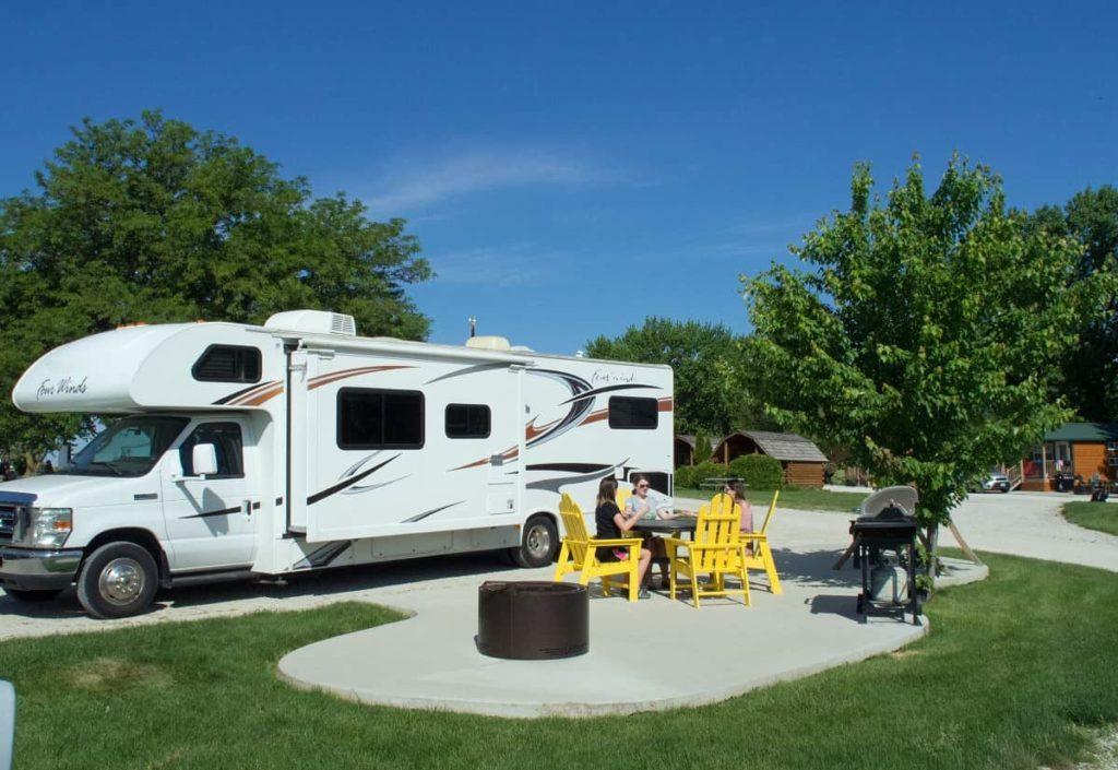 Des Moines West KOA Holiday Iowa RV campground