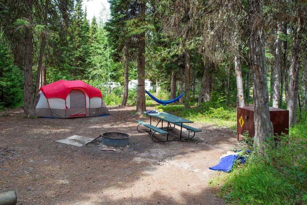 Grand-Teton-National-Park-Colter-Bay-Campground-tent-site-Carltonauts-Travel-Tips